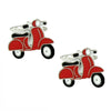 Red Motor Scooter Cufflinks
