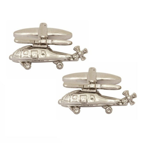 3D Helicopter Cufflinks