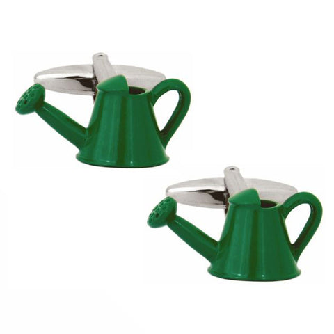 Green Watering Can Cufflinks