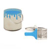 Paint Tin and Brush Cufflinks