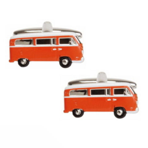 Orange Campervan Cufflinks