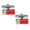 Red Gun Cartridge Cufflinks