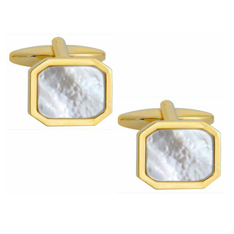 Mother of Pearl Octagonal Cufflinks