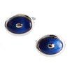 Blue Oval Enamel Cufflinks