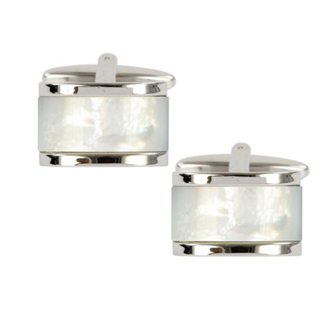 Mother of Pearl Domed Cufflinks