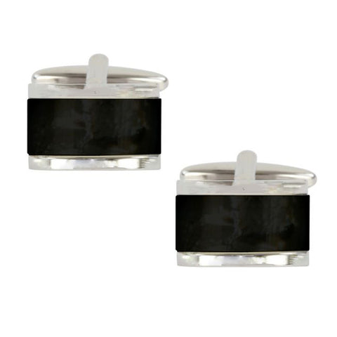 Onyx Domed Cufflinks
