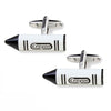 Black and White Crayon Cufflinks