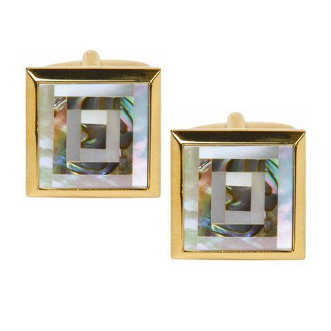Square Paua Shell Cufflinks