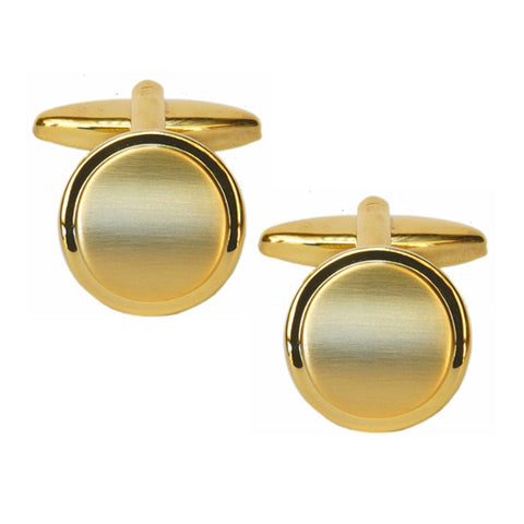 Shiny and Brushed Round Cufflinks