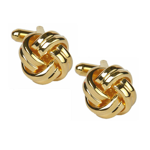 Gold Plated Knot Cufflinks