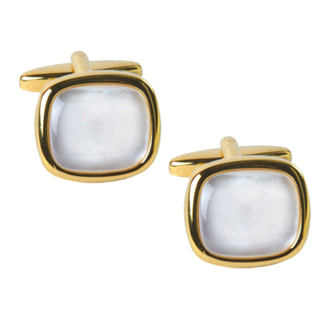 Mother of Pearl Cushion Cufflinks