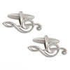 Treble Clef with Crystal Cufflinks