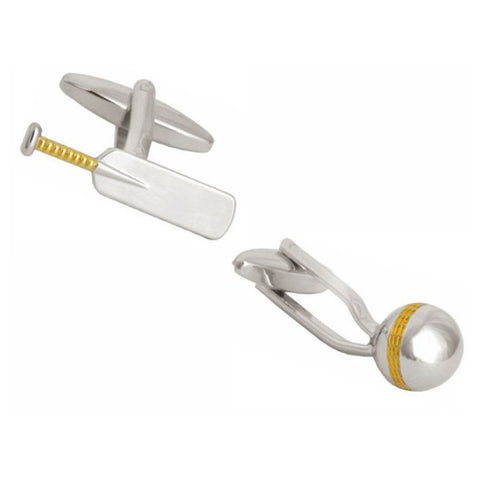 Cricket Bat and Ball Cufflinks