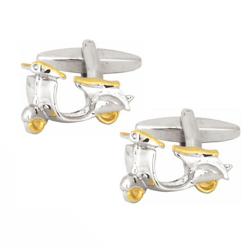 Motor Scooter Cufflinks