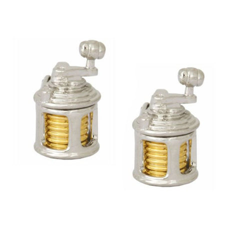 Fishing Reel Cufflinks
