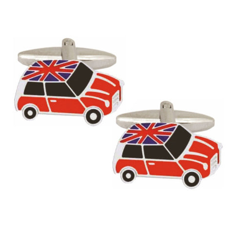 Union Jack Mini Car Cufflinks