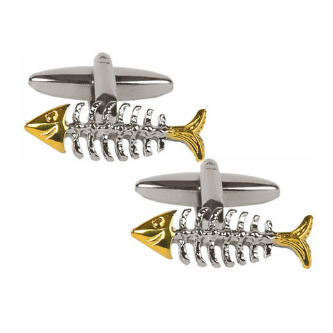 Fish Skeleton Cufflinks