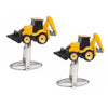 Yellow and Black Digger Cufflinks