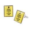 Keep Calm and Cycle On Cufflinks
