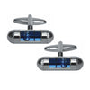 Blue Spirit Level Cufflinks