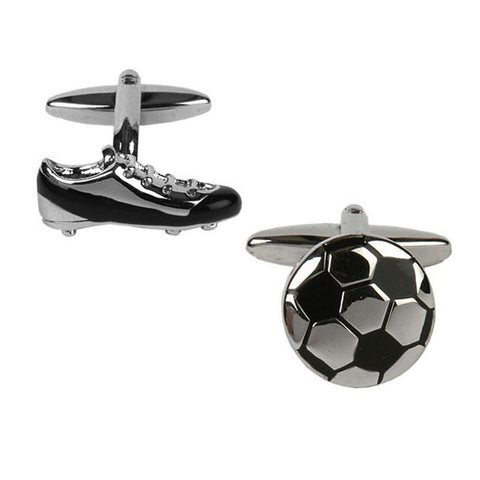Football and Boot Cufflinks