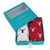 Red and White Stag Cotton Handkerchief Set