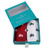 Red and White Tractor Cotton Handkerchief Set