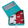Red and White Horse Cotton Handkerchief Set