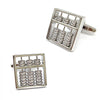 Abacus Cufflinks with Moving Counters