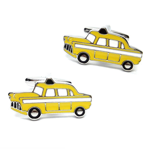 Yellow New York Taxi Cab Cufflinks