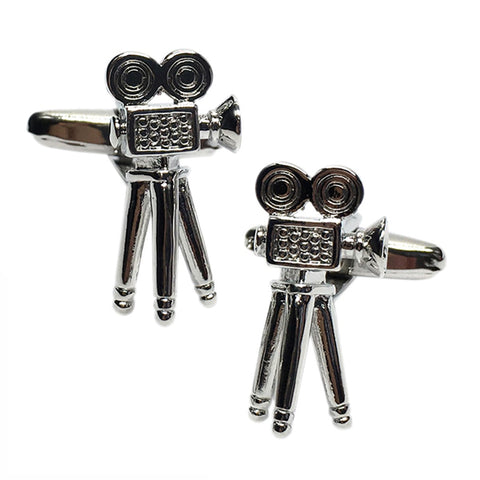 Retro Movie Camera Cufflinks