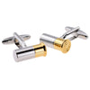 2 Tone Metal Shotgun Cartridge Cufflinks