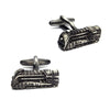 Gunmetal Locomotive Train Cufflinks