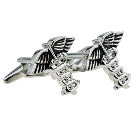 Medical Caduceus Cufflinks