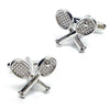 Crossed Tennis Racquets Cufflinks