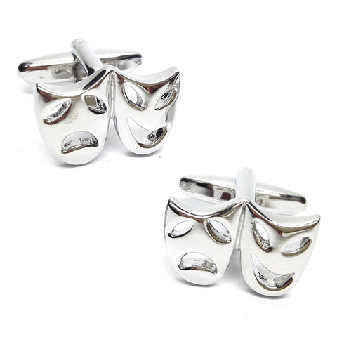 Comedy and Tragedy Theatre Mask Cufflinks