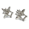 Rhodium Plated Aircraft Cufflinks