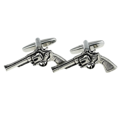 Pewter Pistol Cufflinks