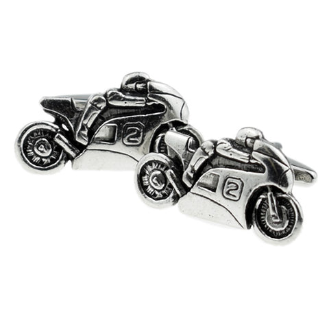 Pewter Sports Motorbike Cufflinks