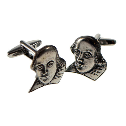 Pewter William Shakespeare Cufflinks