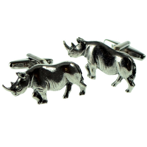 Pewter Rhino Cufflinks