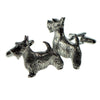 Pewter Scottie Dog Cufflinks