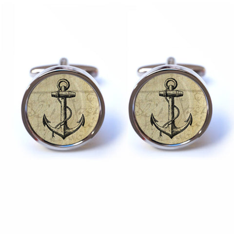 Ship Anchor Cufflinks