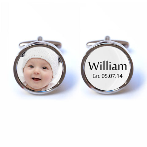 Personalised Baby Photo Cufflinks