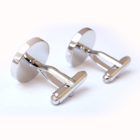 Now and Always Cufflinks with Custom Initials and Photo