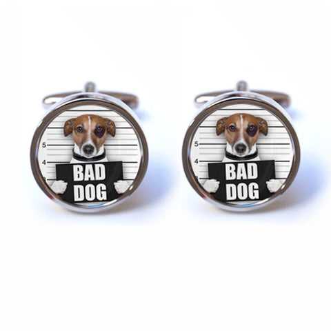 Bad Dog in Police Mugshot Cufflinks