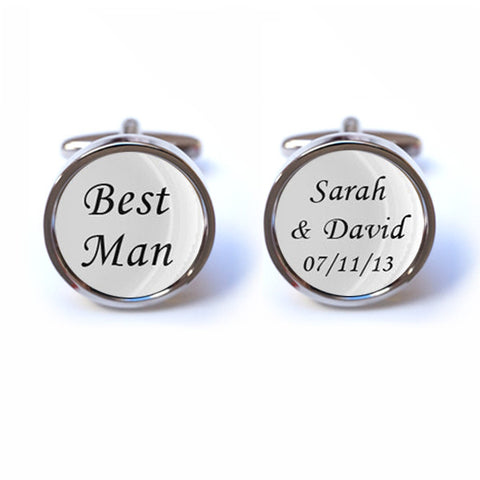Personalised Best Man Wedding Cufflinks