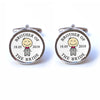 Personalised Brother of the Bride Cufflinks with Illustration