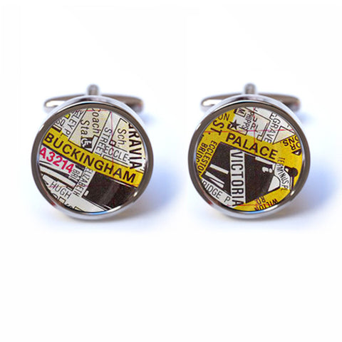 Buckingham Palace Street Map Cufflinks