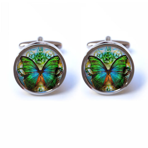 Butterfly Cufflinks - Steampunk Cufflinks